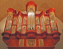 Fabulous Fritts pipe organ, Arizona State University, Tempe AZ, pipe shade carver Jude Fritts