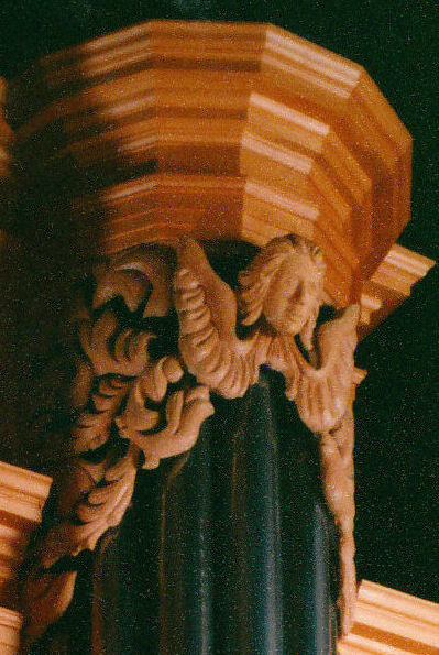 Wood carvings and sculpture for the Fritts pipe organ at Grace Lutheran, Tacoma