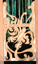 Decorative carved wood ornament, Pacific Lutheran University, Tacoma WA