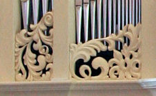 Decorative wood carvings for the Fritts pipe organ at Princeton Theological Seminary, Princeton, NJ