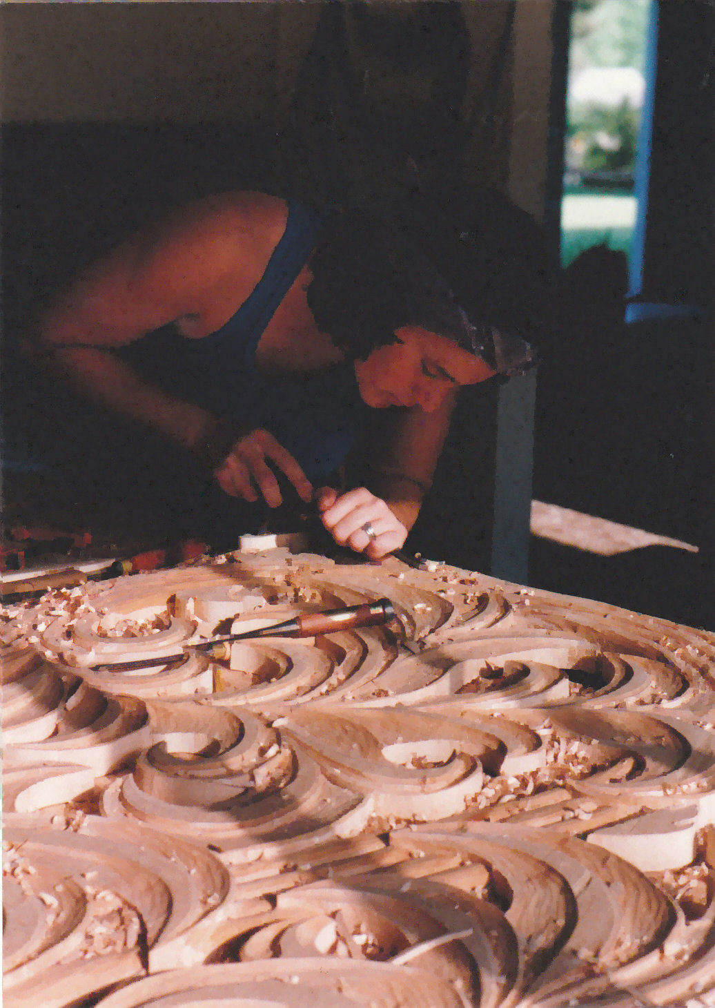 Jude fritts wood carving sculpture workshop photos